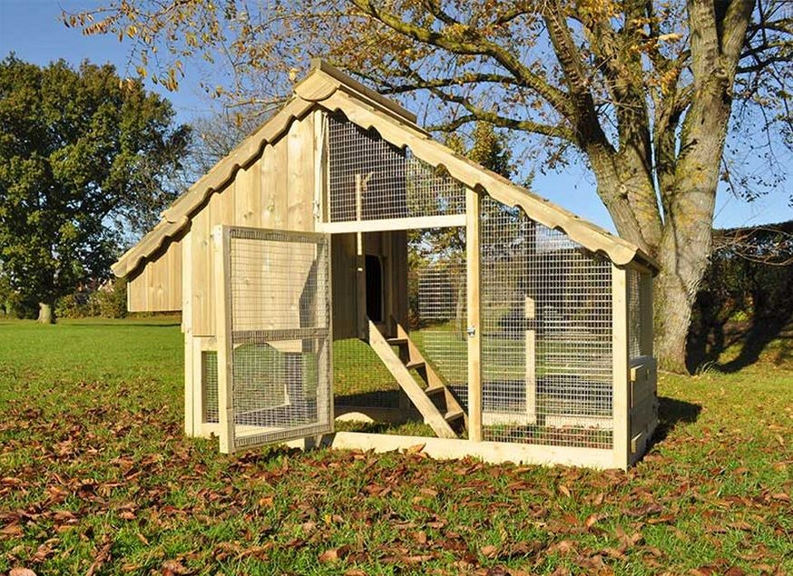 Goodlife court large chicken coop cotswold chickens for Large chicken house