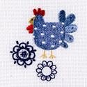 Cotton Tea Towel - Patchwork Chicken